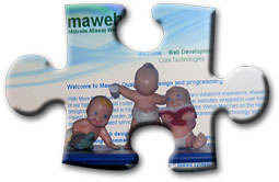 Baby on with Maweb screen